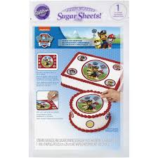 paw patrol edible images cake decorating kit wilton