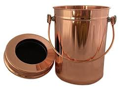 compost canister kitchen compost pail bin bucket for indoor kitchen countertop copper
