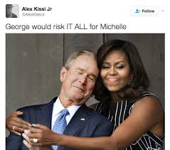 a history of george w bush crushing on michelle obama bossip