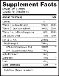 Nutrition Facts Label Worksheet Eyepromise Restore Macular Health Formula