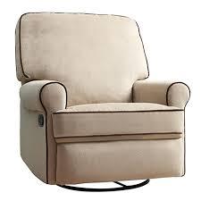 creations baby birch hill swivel glider recliner in doe coffee