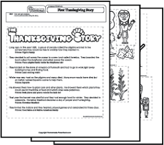 Thanksgiving Story For Preschool Thanksgiving Story
