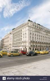 hotel grand bretagne syntagma square athens greece stock photo