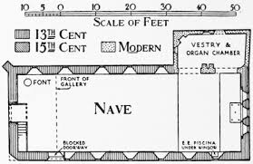 All Saints Church Floor Plans by Chichester Churches Anglican History