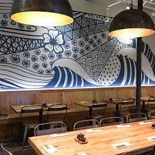 wave mural at japanese restaurant in davis square waves wave mural at japanese restaurant in davis square waves restaurantdesign