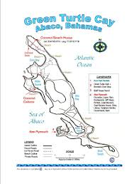 Map Of Florida And Bahamas by Map Green Turtle Cay Abaco Bahamas Secluded Oceanfront Rental