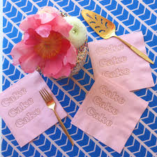 cake foil napkins candy pink and copper bash party goods