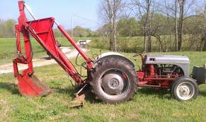 ford 8n with factory backhoe