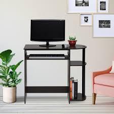 dark brown computer desk furinno simplistic dark brown computer desk 14098r1dbr bk the home