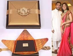 Expensive Wedding Invitations 10 Most Interesting Wedding Invites Of Bollywood Celebrity Couples