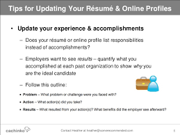 Resumes Online For Employers by Still Job Searching Tips For Updating Your Online Resume U0026 Profiles