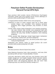 Daftar Pustaka Merupakan Format Dari | format daftar pustaka