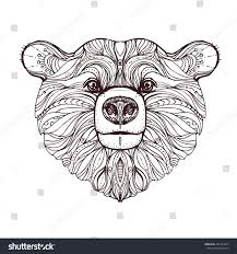 hand drawn ink doodle bear on stock vector 407143012 shutterstock