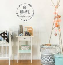 be brave little one wall decal baby boy nursery wall decal zoom
