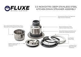 Stainless Steel Kitchen Sink Strainer - fluxe 3 5 inch stainless steel deep waste basket kitchen sink