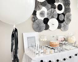 Diy 1st Birthday Centerpiece Ideas Black White First Birthday Party Diy Party Crafts Diy Party