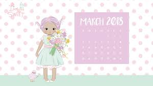 free march 2018 calendar for desktop and iphone march 2018 free wallpapers live