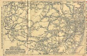 Routing Maps pennsylvania in old road atlases 1911 1920