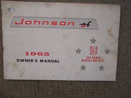 1965 johnson sea horse outboard 9 1 2 hp mq mql owner manual more