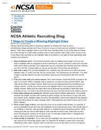 Sample Athletic Resume by 7 Steps To Creating A Winning Highlight Video Nems Lacrosse