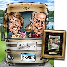 gift for 50th wedding anniversary 50th wedding anniversary gifts from giveacaricature