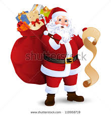santa claus picture vector illustration santa claus carrying sack stock vector