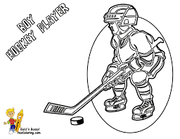coloring pages hockey player coloring page you can print out