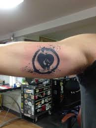 voodoo heart tattoo rise against heart and fist anthony johnson voodoo tattoo