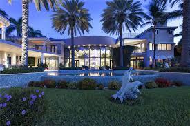 modern mediterranean waterfront mansion in boca raton for 13m