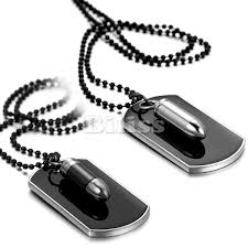 dog tag pendant necklace images Fashion men jewelry army style bullet dog tag pendant mens jpg