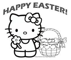 kitty coloring pages easter coloring pages