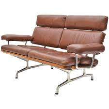Antique Leather Sofa Eames Teak And Leather Sofa By Herman Miller At 1stdibs
