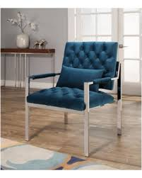 Blue Velvet Accent Chair Great Deal On Abbyson Ryder Stainless Steel And Velvet Accent