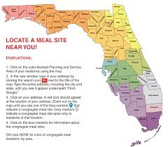 Orange City Florida Map by Florida Department Of Elder Affairs Congregate Meal And