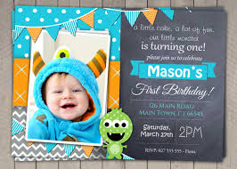 boys 1st birthday invitation diy printable monster download