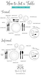 Formal Setting Of A Table How To Set The Table Easy Guide To Informal And Formal Dinner