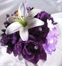 Purple Lily Flower White Lily Plum Purple U2013 Roses And Dreams