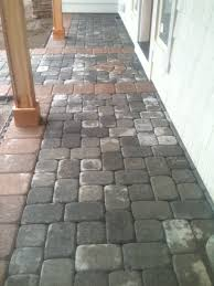 nice option for the front entry to a new home this paver walkway