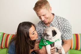 sean lowe and catherine giudici play with dogs at rover com hq
