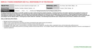 Responsibility Resume X Taking Ownership And Full Responsibility Of Tra Cover Letter