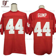bonjean new cheap forrest gump 44 the movie jersey red sewn