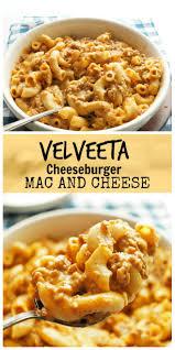 velveeta cheese burger mac and cheese the skinny pot