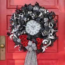 halloween wreath tick tock halloween wreath grandin road