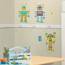 Build Your Own Robot Wall Stickers Wall Decals Nursery Decor - Wall sticker design your own