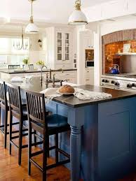 paint colors for kitchen white cabinets and blue island with black