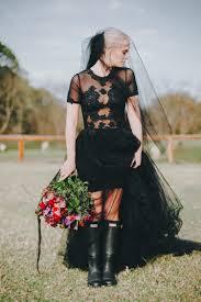 25 refined black wedding dresses to stand out weddingomania