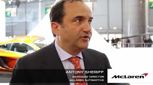 mclaren ceo antony sheriff on the mclaren p1 youtube
