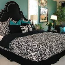 22 best black white and teal bedroom images on pinterest