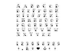 alphabet numbers u0026 symbols tattoos mytat com