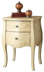 terrific bombay chest nightstand antique white quot vintage french